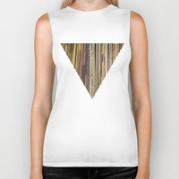records Biker Tanks featuring Records by Cassia Beck