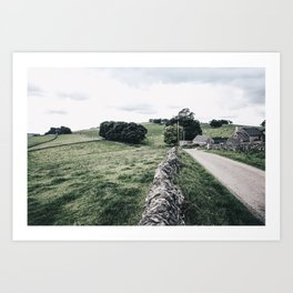 a day in the Peaks Art Print