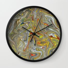 Abstract Oil Painting 30 Wall Clock