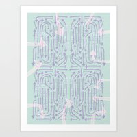 cycle Art Prints featuring Cycle by Lillian Cassidy