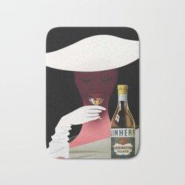 1950 Linherr Vermouth Bianco Aperitif Vintage Poster by arthur Ziegler Bath Mat