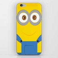 minion iPhone & iPod Skins featuring minion by fatimakhaled95