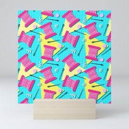Memphis Sewing - Brights Mini Art Print