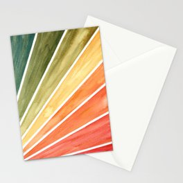 Rainbow Rays Geometric Abstract Stationery Cards