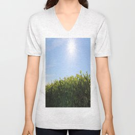 Summer Photos, Nature Photography, fine art gifts, Landscape Photo, sunshine photo Unisex V-Neck