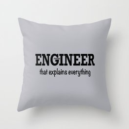 Future Engineer Throw Pillow