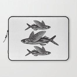 Flying Fish | Black and White Laptop Sleeve