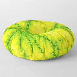 photosynthesis leaf green structure Floor Pillow