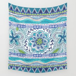 Boho Blue Wall Tapestry
