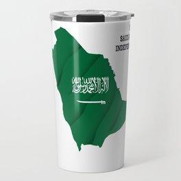 Happy Saudi Arabia Independence Day Travel Mug