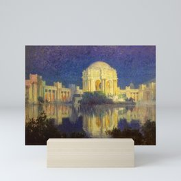 San Francisco Palace of the Fine Arts Temple and Lagoon landscape painting by Colin Campbell Cooper  Mini Art Print