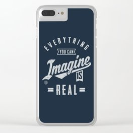 Imagine is Real - Motivation Clear iPhone Case