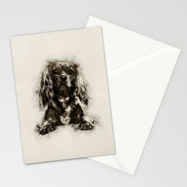 Cavalier King Charles Spaniel Puppy Sketch Stationery Cards