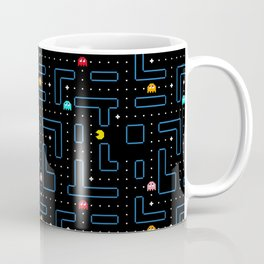 Pac-Man Retro Arcade Video Game Pattern Design Kaffeebecher