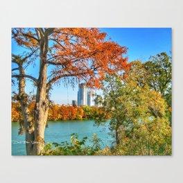 Town Lake - Austin, Texas - 2008 Canvas Print