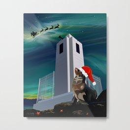 Seal Waiting on Christmas Metal Print