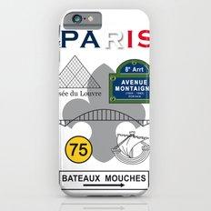 Paris, France, Vintage Art Print Poster Decoration iPhone 6s Slim Case