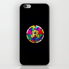 Stained Glass Dog iPhone Skin
