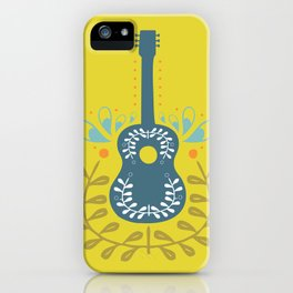 Fancy folk guitar iPhone Case