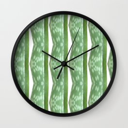 Aloe Stripe Wall Clock