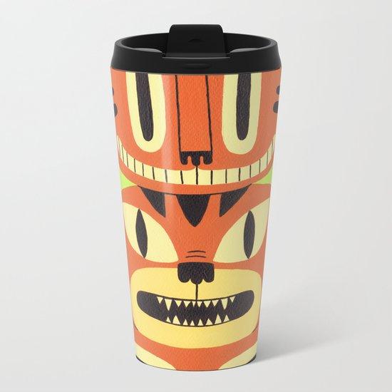 Totem Cat Metal Travel Mug