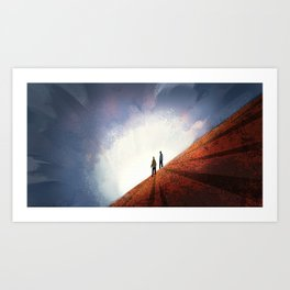 #9 Where No Man Has Gone Before - The Fall Between the Land and the Sky Art Print