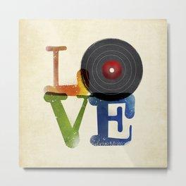 Love is Music Metal Print
