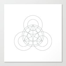 #342 Triple-eyed – Geometry Daily Canvas Print