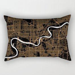 Edmonton | Alberta | Canada - Minimalist City Map Rectangular Pillow