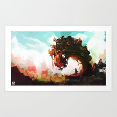 Borderline Art Print