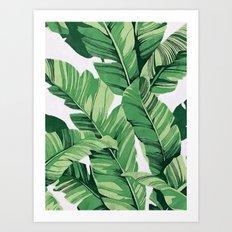 Tropical banana leaves V Art Print