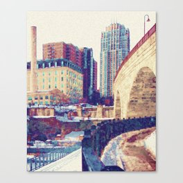 Stone Arch Bridge-Minneapolis, Minnesota Canvas Print