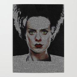 The Bride of Frankenstein Screenplay Print Poster