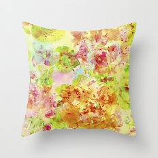 fresh garden Throw Pillow