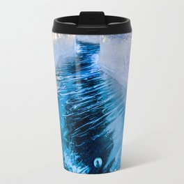 The crack of Baikal ice Travel Mug