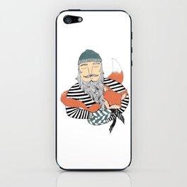 Man and fox. iPhone Skin