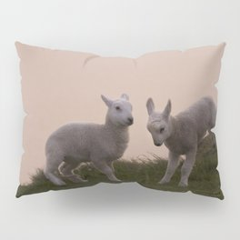 Playful little lambs Pillow Sham