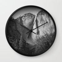 yosemite Wall Clocks featuring Yosemite by Sarah Van Neyghem
