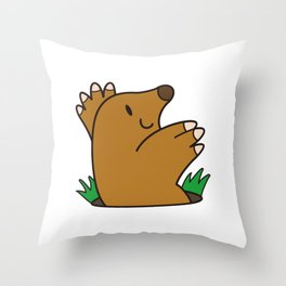 a Mole from the ground Throw Pillow