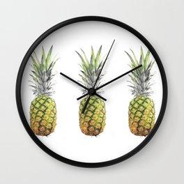 New pineapples Wall Clock