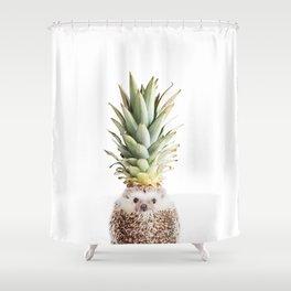 Hedgehog Pineapple Shower Curtain