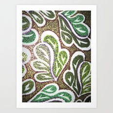 Leaves 3 Art Print