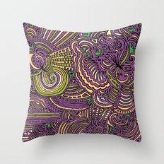 Drawing Meditation - Lilac Throw Pillow