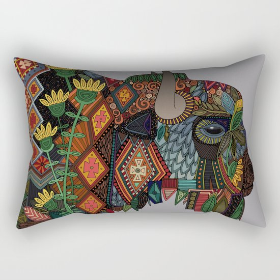 bison heather Rectangular Pillow