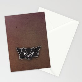 Crabby Cat - black Stationery Cards