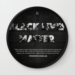 Black Lives Matter Wall Clock