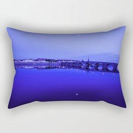 France landscape, Amboise, Loire valley, dusk, reflection, river, blue Rectangular Pillow