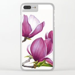Magnolias Clear iPhone Case