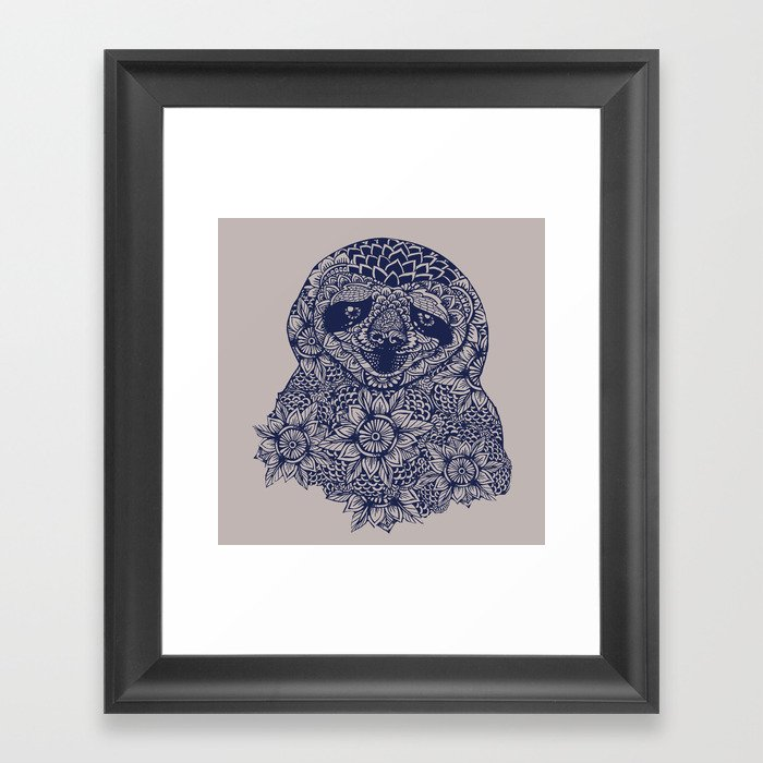 Mandala of Sloth Gerahmter Kunstdruck