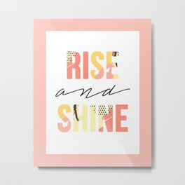 Rise and Shine Pattern Print Metal Print